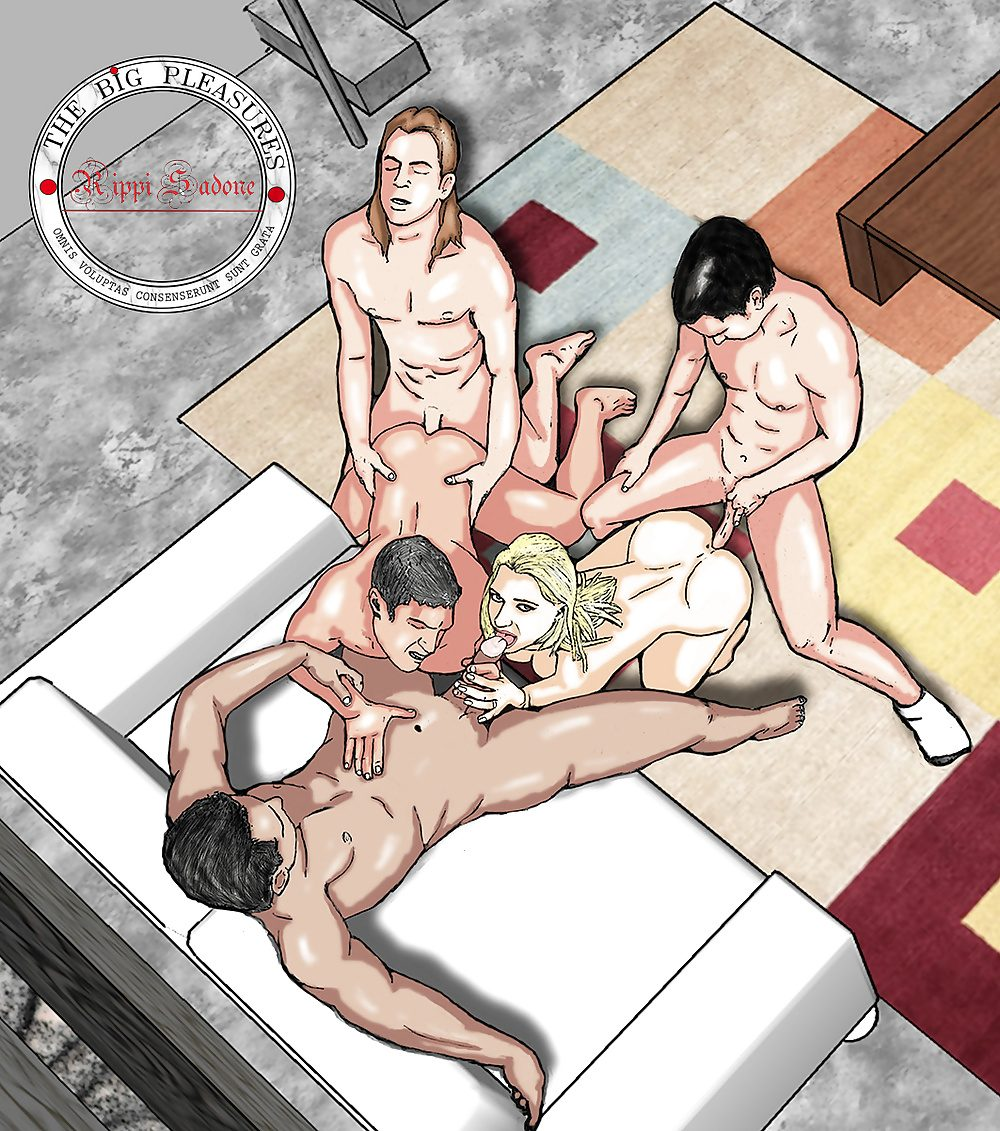 Bisexual orgy toons 13